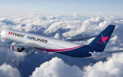 Myway Airlines-ი ზამთრის პერიოდში ფრენებს აჩერებს