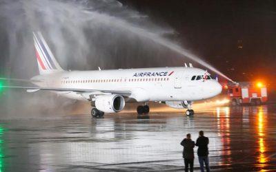 ავიაკომპანია AirFrance -მა თბილისის მიმართულებით პირველი რეისი შეასრულა