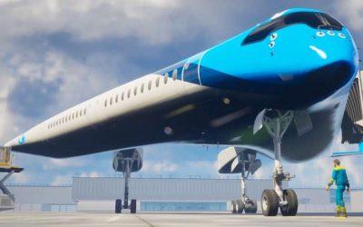 ავიაკომპანია KLM -ის ახალი თვითმფრინავის ფრთებში სამგზავრო ადგილები განთავსდება (ვიდეო)